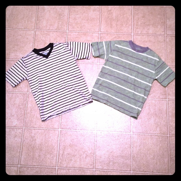 5be5beec0 Faded Glory Shirts & Tops | Lot Of 2 Boys Striped Tshirts | Poshmark